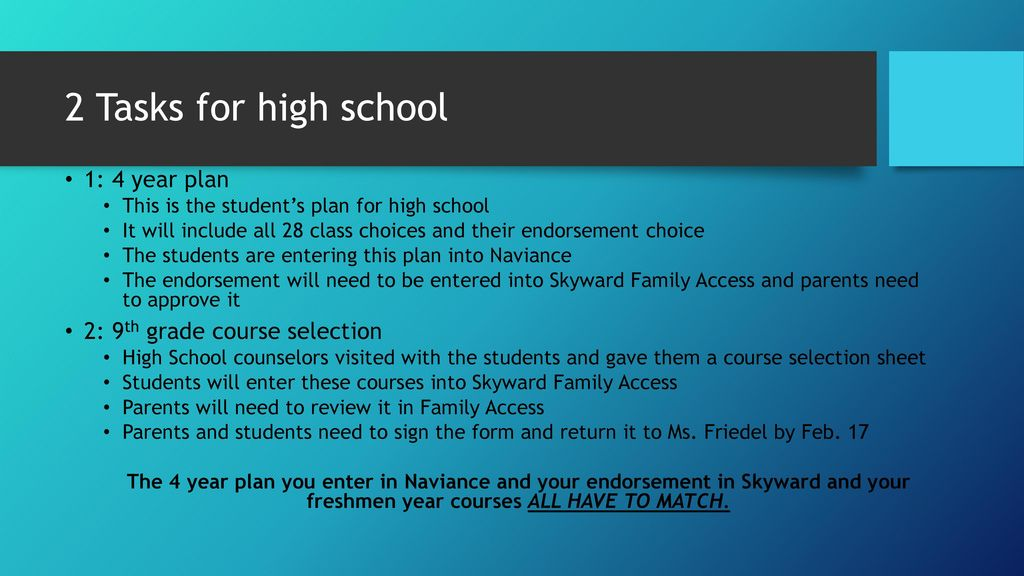 Transition to High School - ppt download