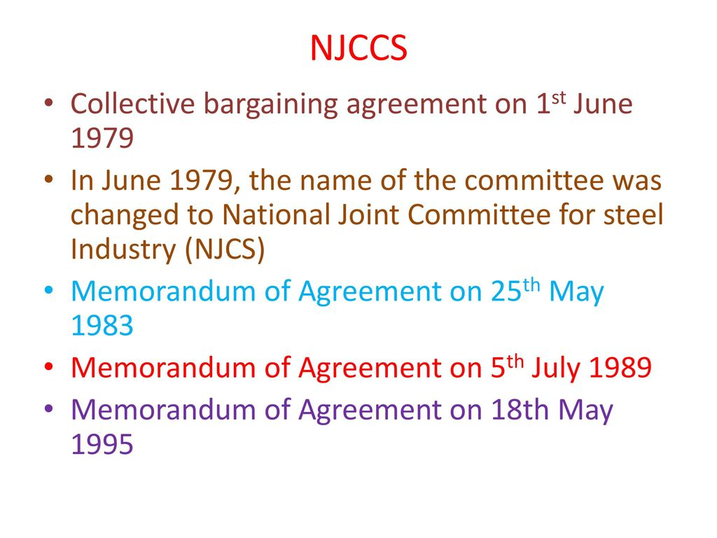 Collective Bargaining At National Level In Indian Steel Industry