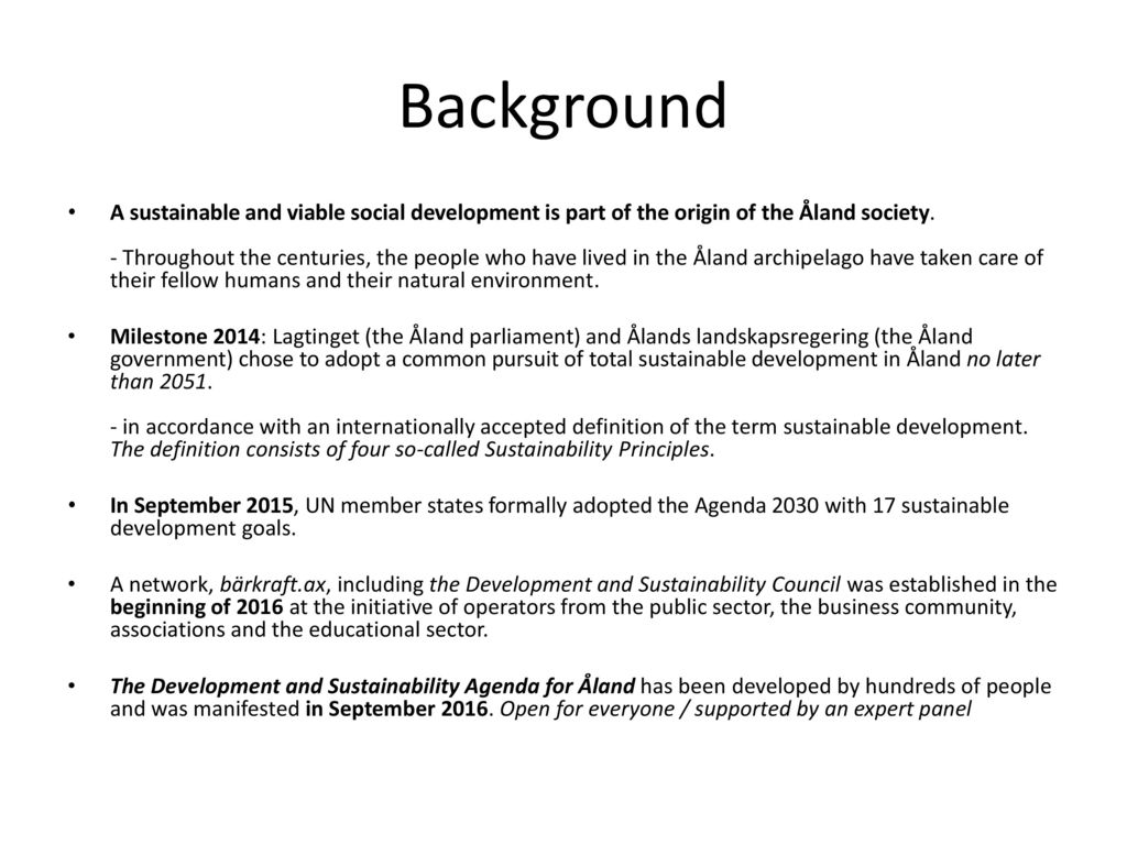 development and sustainability agenda for Åland september 15th ppt