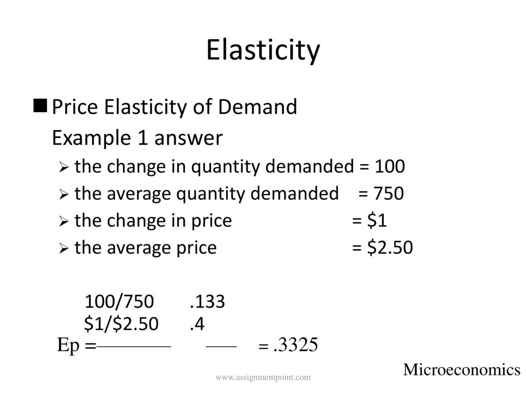 Lecture On Price Elasticity Ppt Video Online Download
