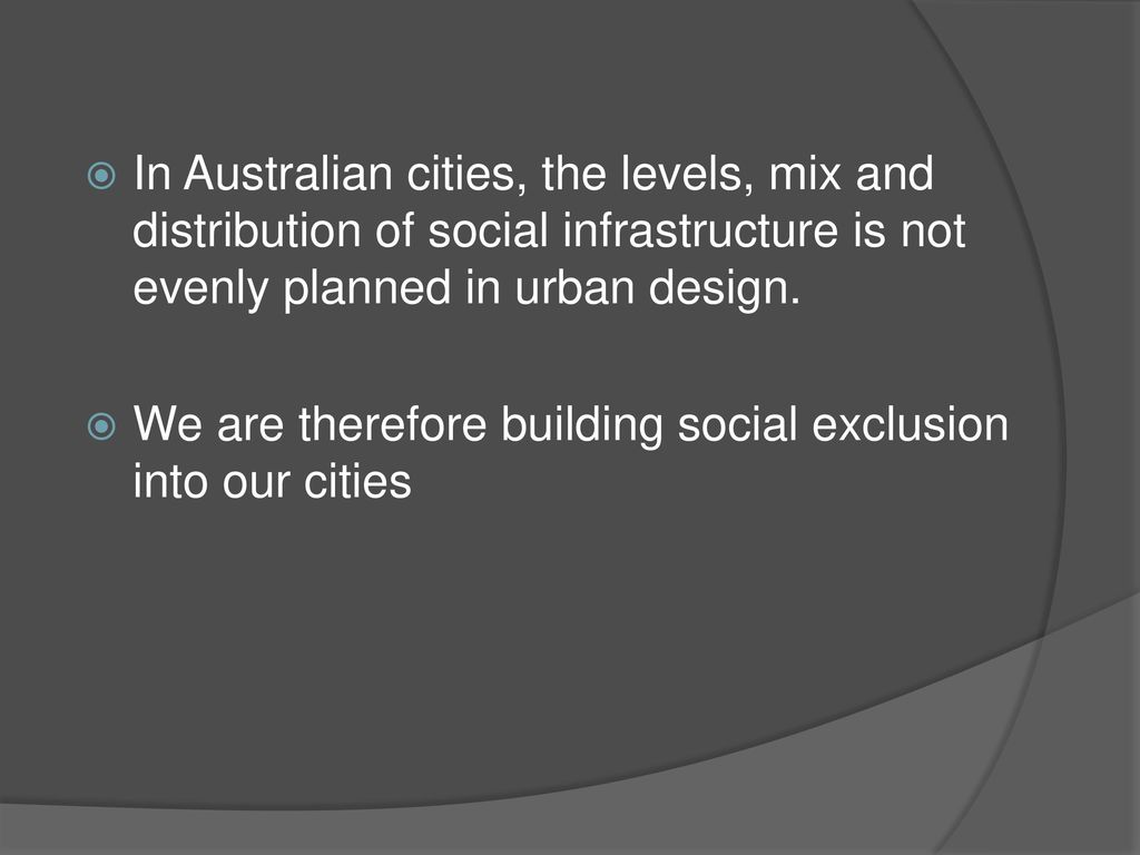 Urban Design And Social Inclusion Ppt Download
