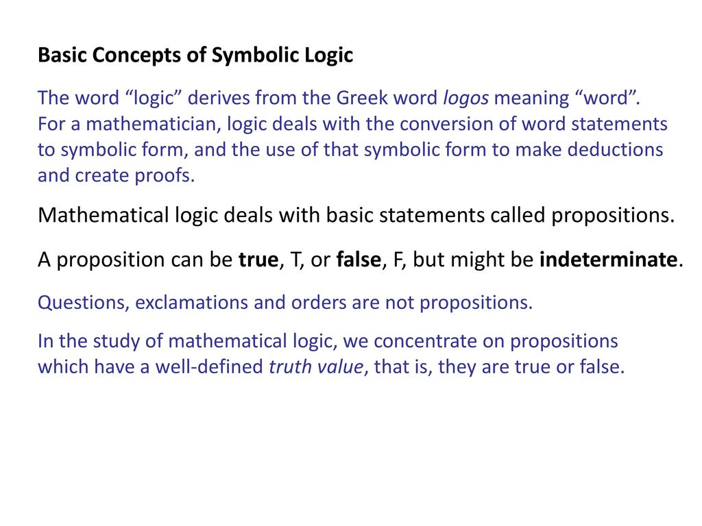 Symbolic Logic Pratibha Sinha Ppt Video Online Download