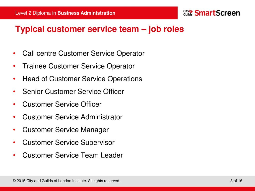 role of a customer service officer