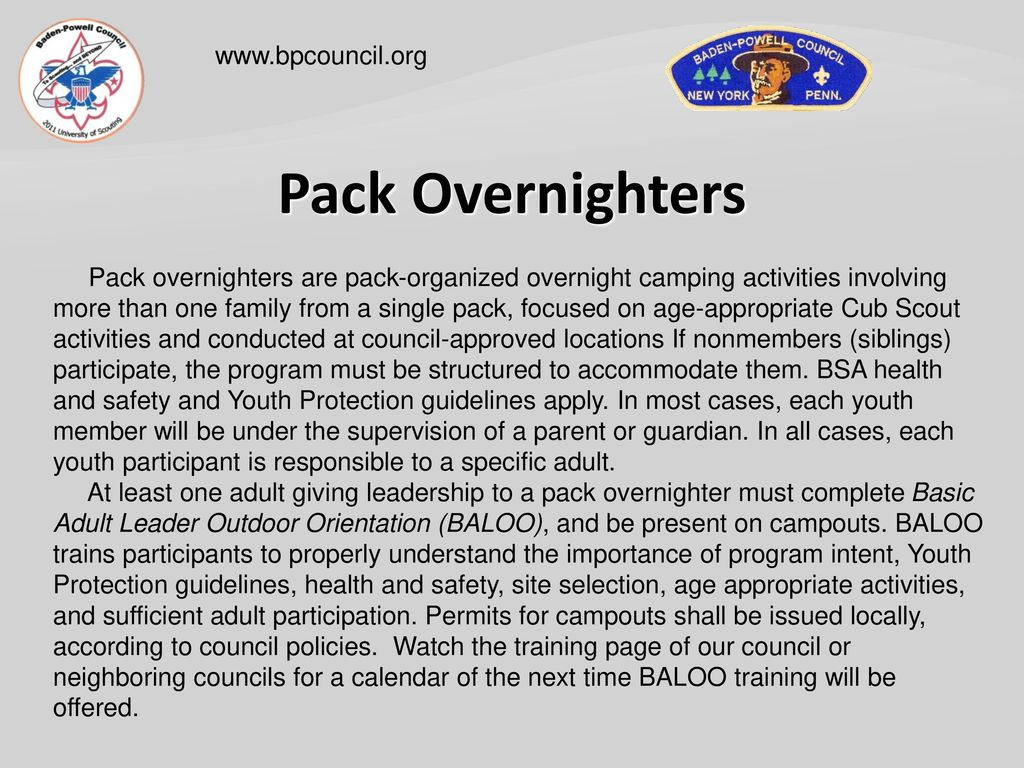 Cub Scout Outdoor Program - ppt download