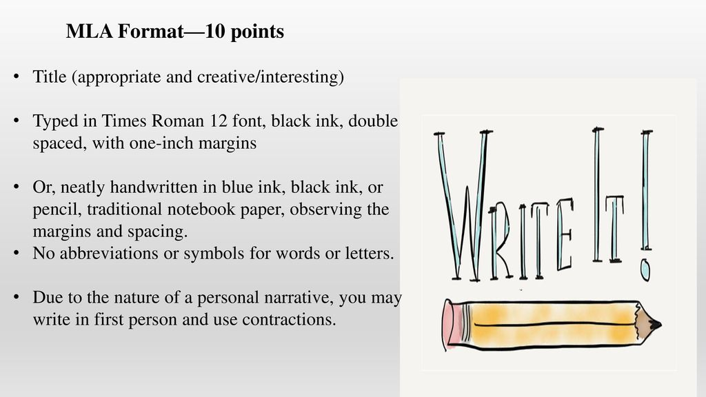 Writing Assignment Personal Narrative Ppt Download