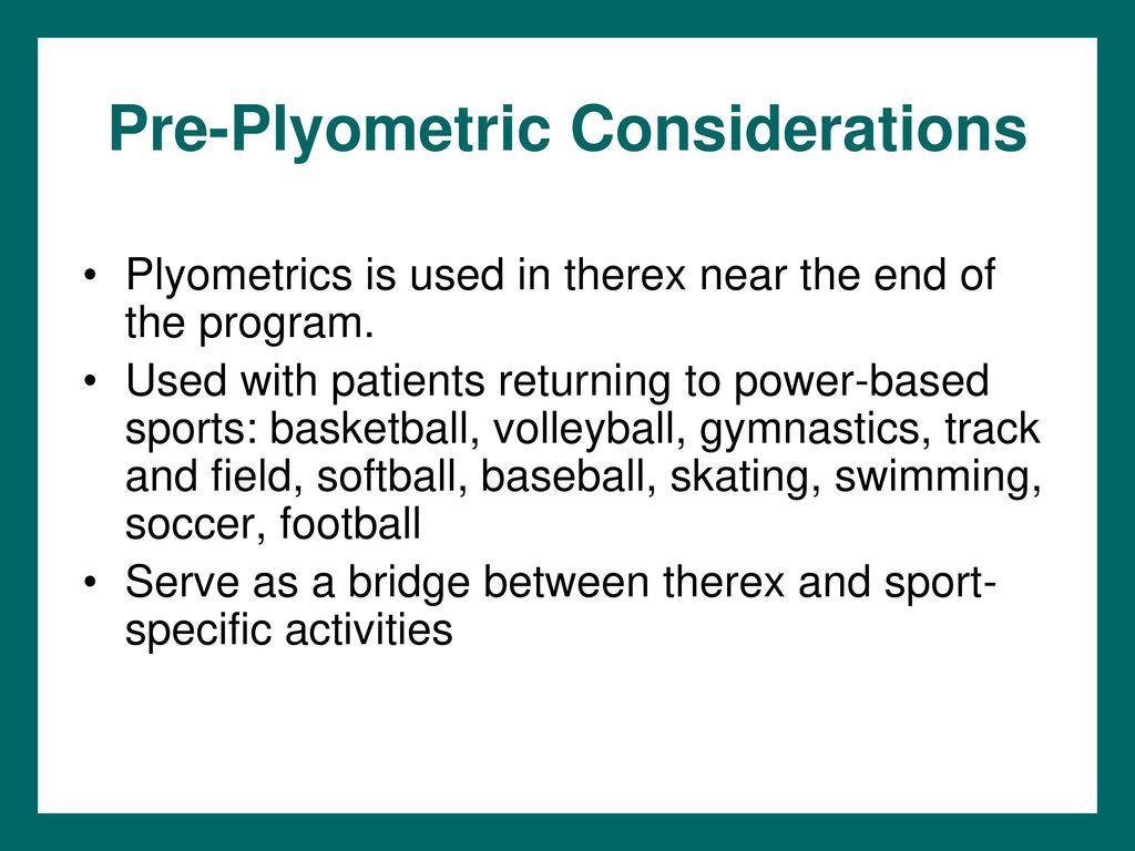 Chapter 9 Plyometrics  - ppt download