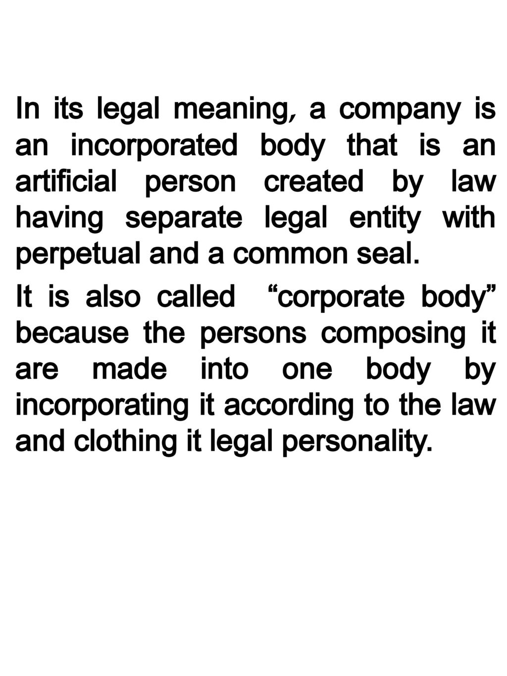 meaning of corporate personality