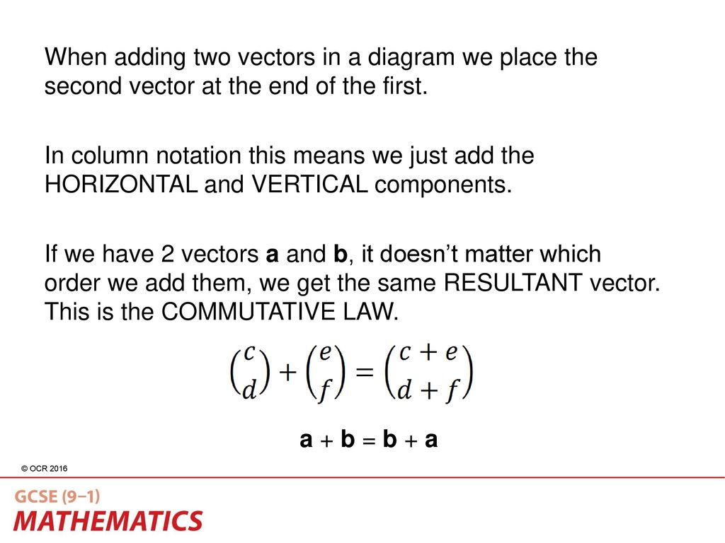 Vectors h070 topic title h470 topic title ppt download when adding two vectors in a diagram we place the second vector at the end of ccuart Choice Image
