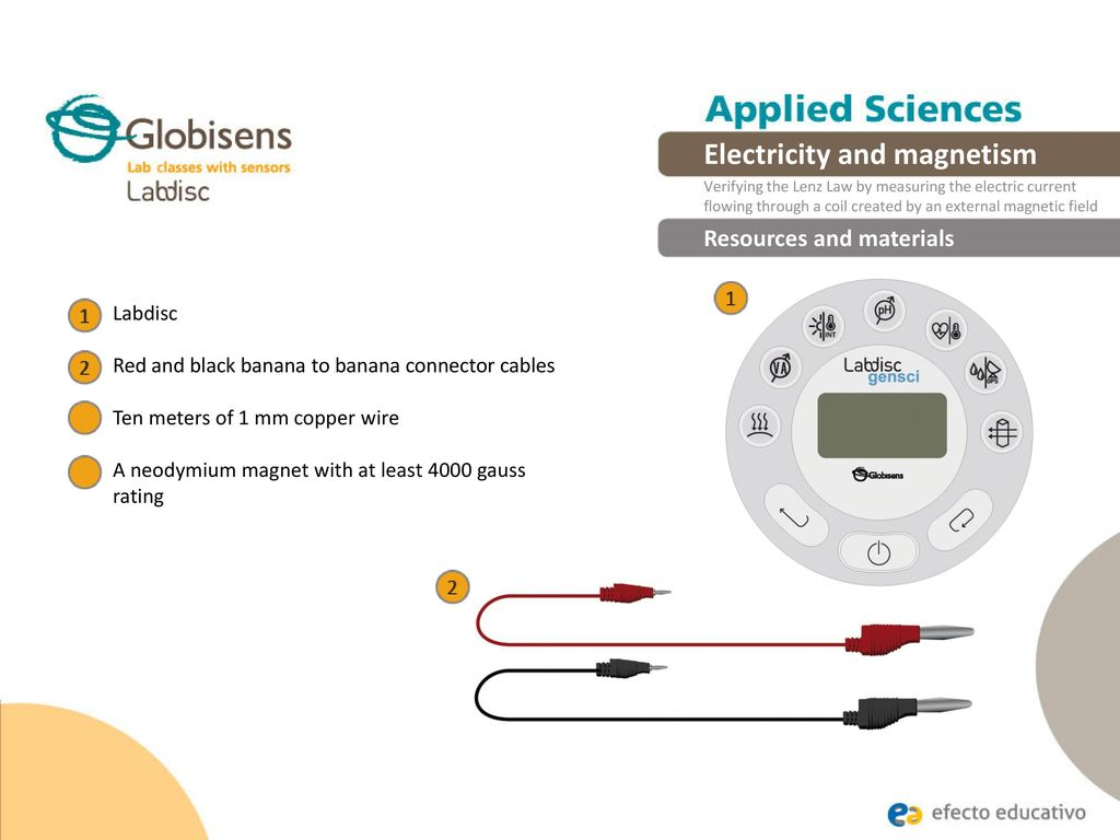 Electricity And Magnetism Ppt Download Magneticfieldsensorconnections Electronicslab 13 Resources Materials