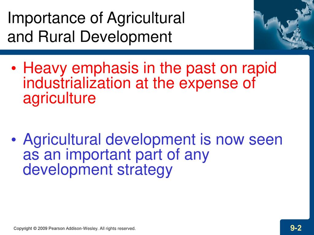 importance of agricultural development