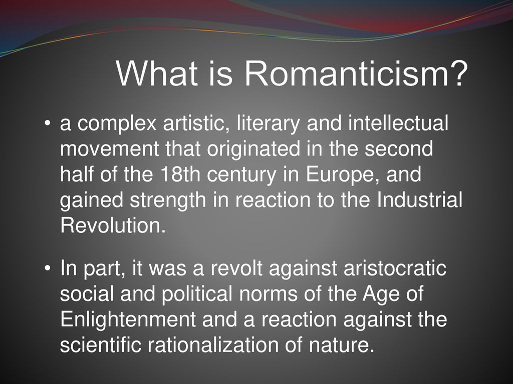 What is romanticism 63