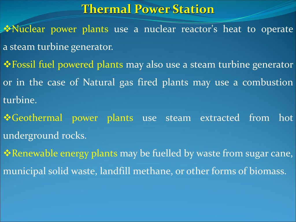 Thermal Power Station Electric power systems - ppt download
