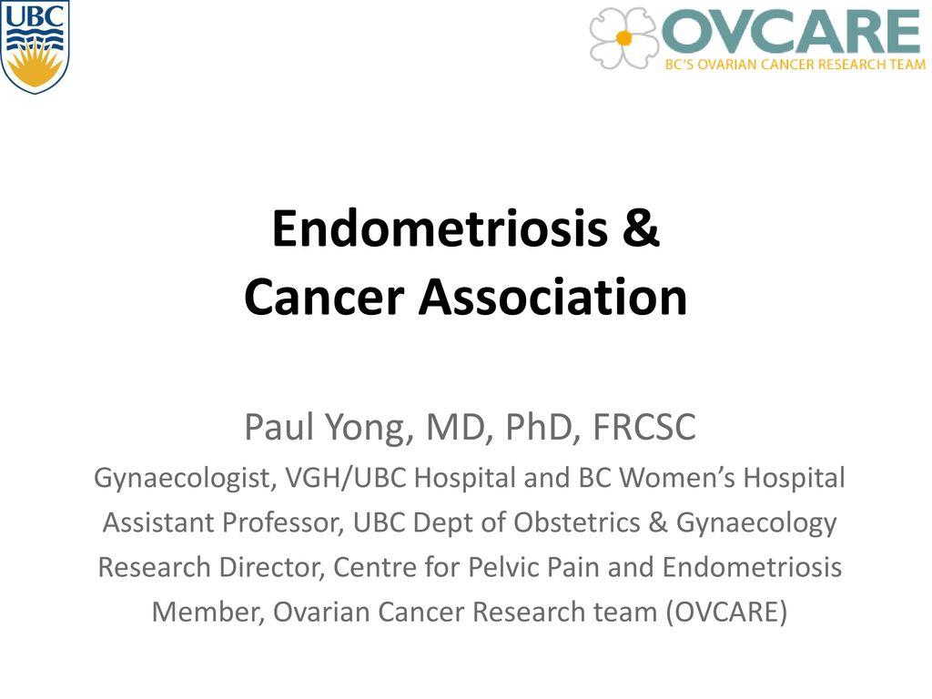 Endometriosis Cancer Association Ppt Video Online Download