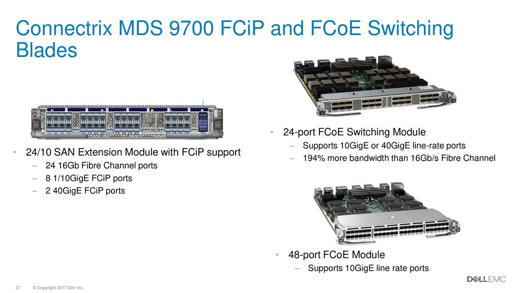 Connectrix MDS 9700 FCiP And FCoE Switching Blades
