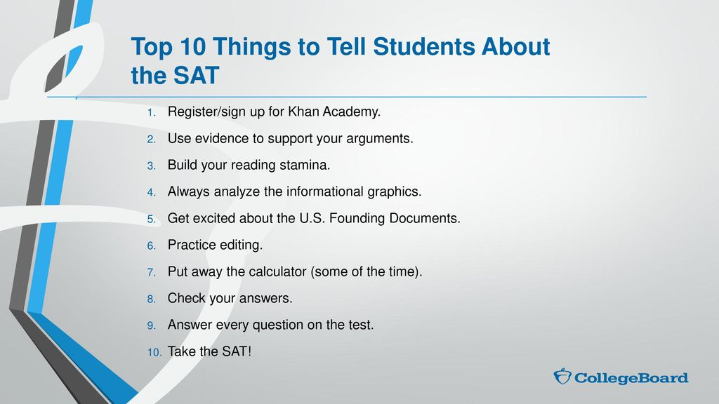 Transcripts SAT ACT College Board & Khan Academy - ppt video