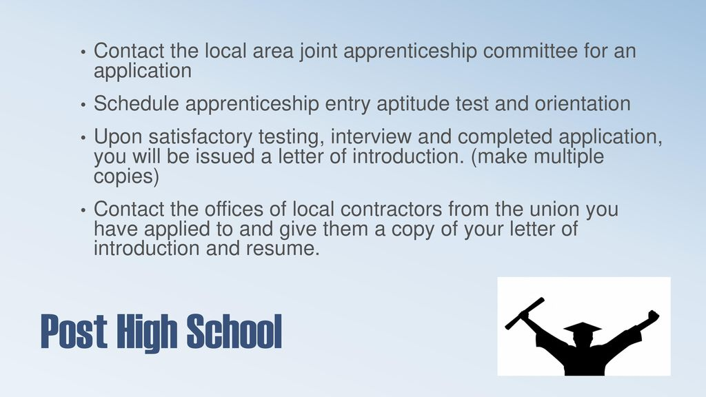 High School to Apprenticeship Guide - ppt download