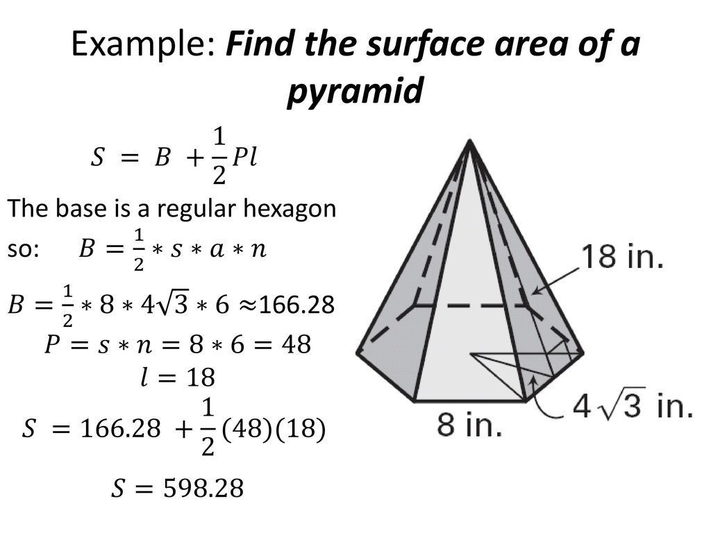 how to find the surface area of a pyramid prism