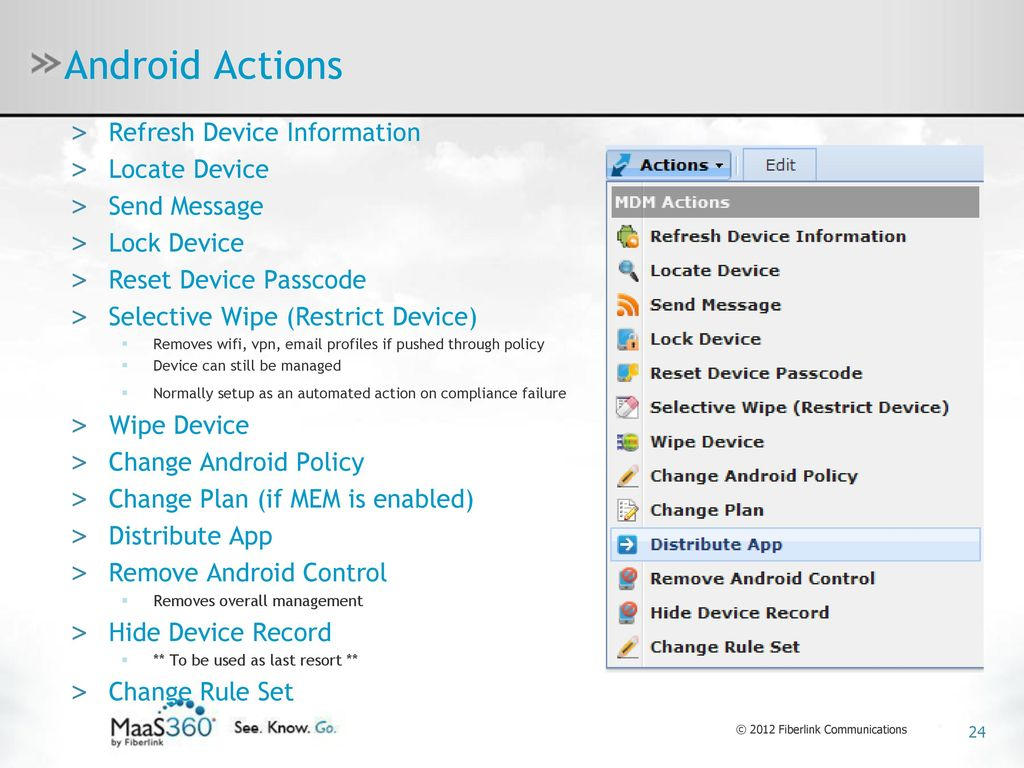 MaaS360 MDM for iOS, Android & Windows Phone 7 - ppt download