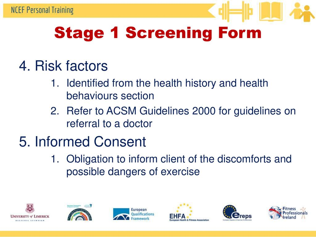 acsm health history www