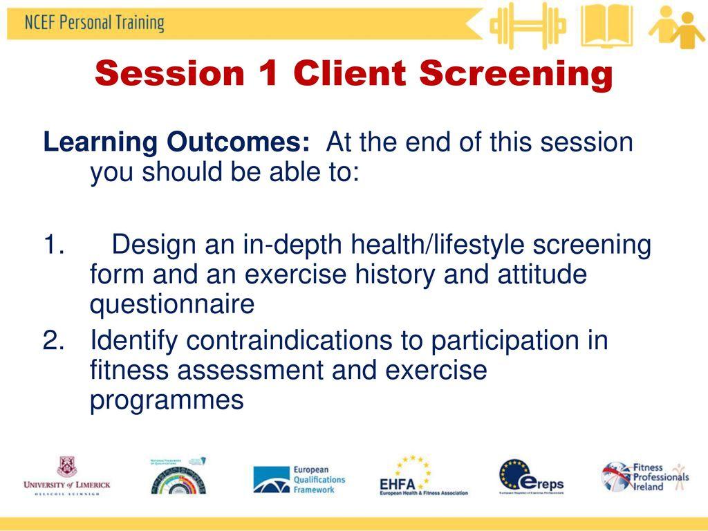 Client Screening & Fitness Assessment - ppt video online