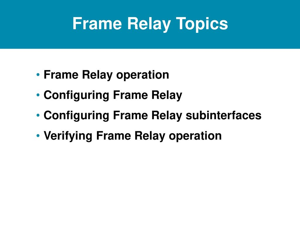 Frame Relay Ppt Download Basic Operation Topics Configuring