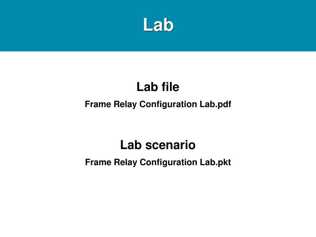 Frame Relay Ppt Download Basic Concept Of Pdf Configuration Labpdf Labpkt