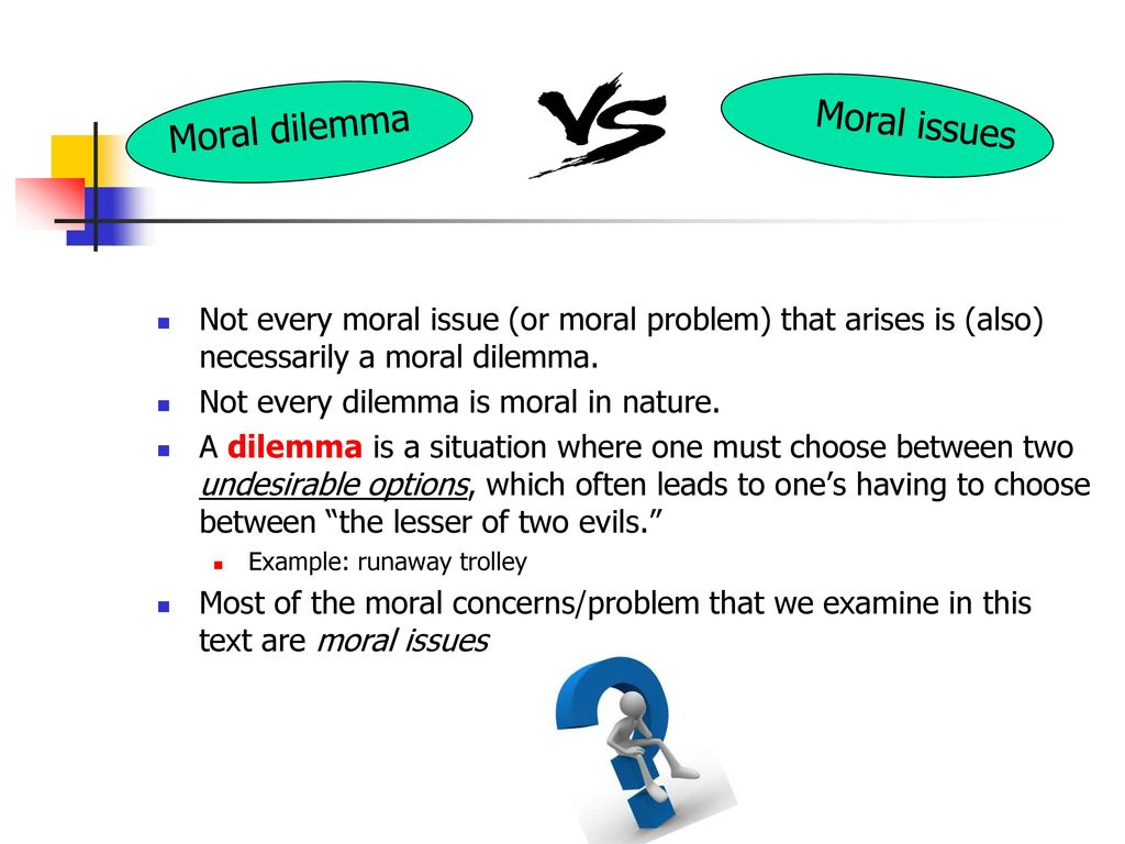 what is a moral issue example