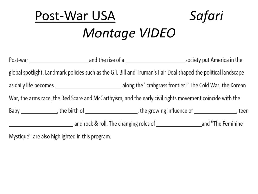 unit iv decades of change 1950s ch 19 41 42 ppt download rh slideplayer com networks guided reading activity postwar america answers chapter 27 section 1 postwar america guided reading answers