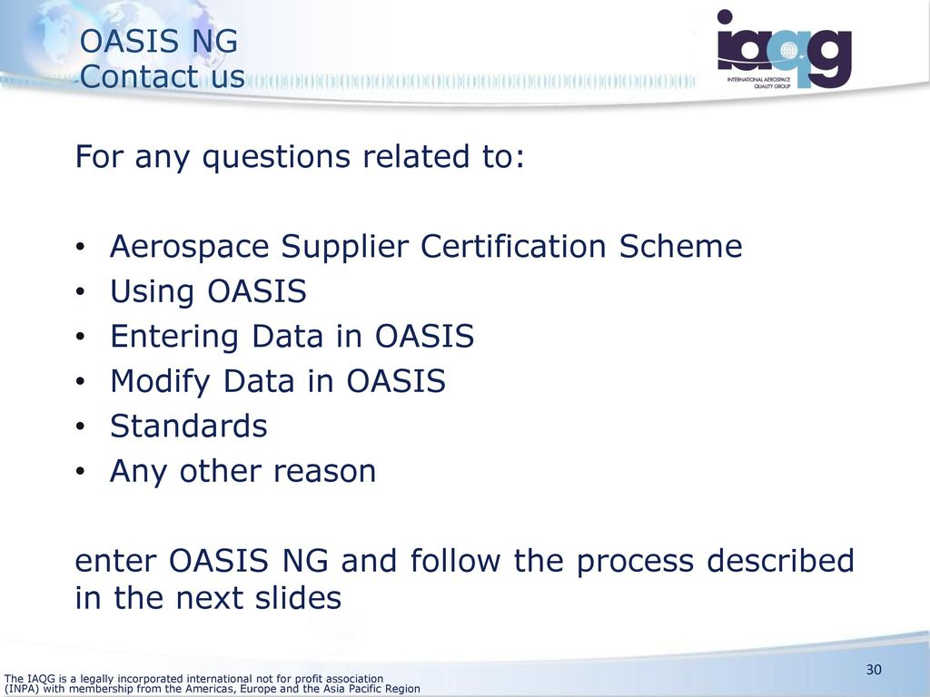 Oasis Next Generation Project Summary Ppt Download