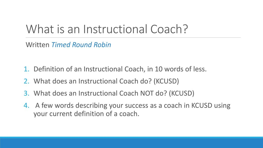 Instructional Coaching Integrated And Designated Ppt Download