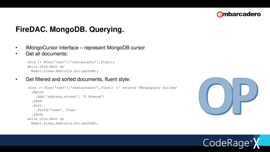FireDAC & MongoDB Introduction - ppt download