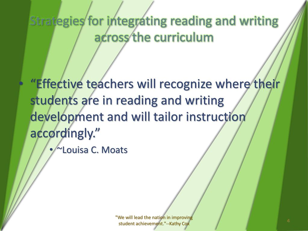 what disciplines could benefit the most from integrating reading and writing to enhance the lessons