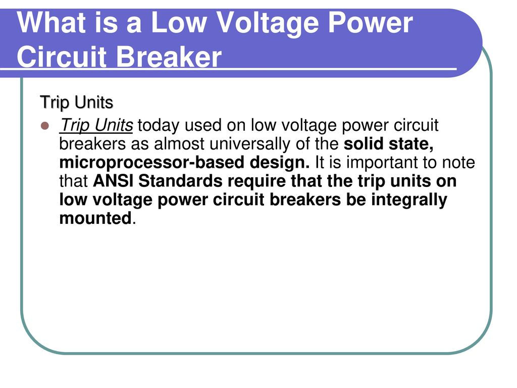 Welcome To Linear Controls Quarterly Training Ppt Download What Is Power Circuit A Low Voltage Breaker
