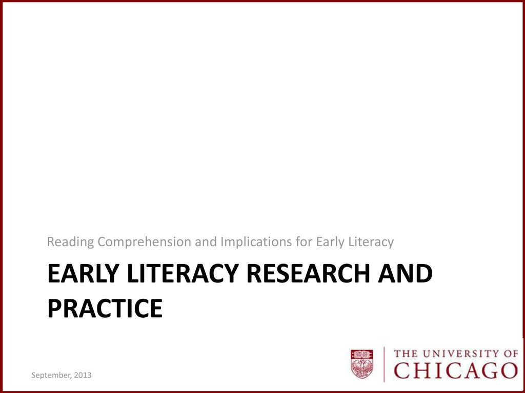 early literacy research