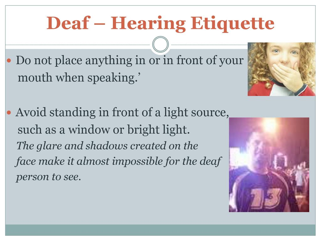 Deaf Culture Review Ppt Download