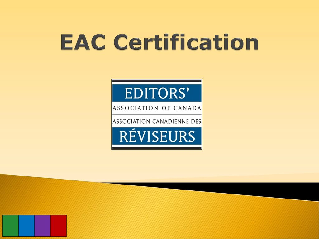 Eac Certification Ppt Download