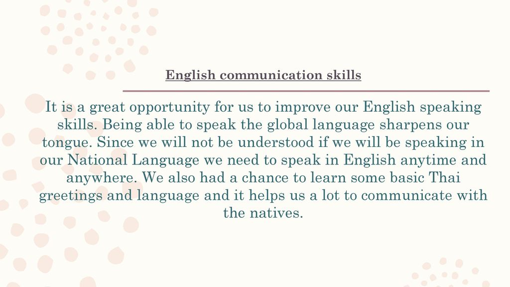 Lessons learned in sea teacher project 2016 thailand ppt download 3 english communication m4hsunfo