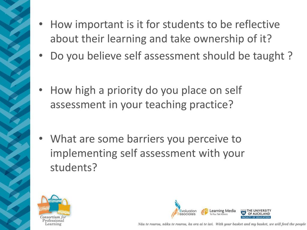 Self Regulating Learners Self and peer assessment  - ppt download