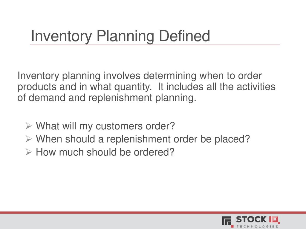 ABCs of Inventory Planning - ppt download