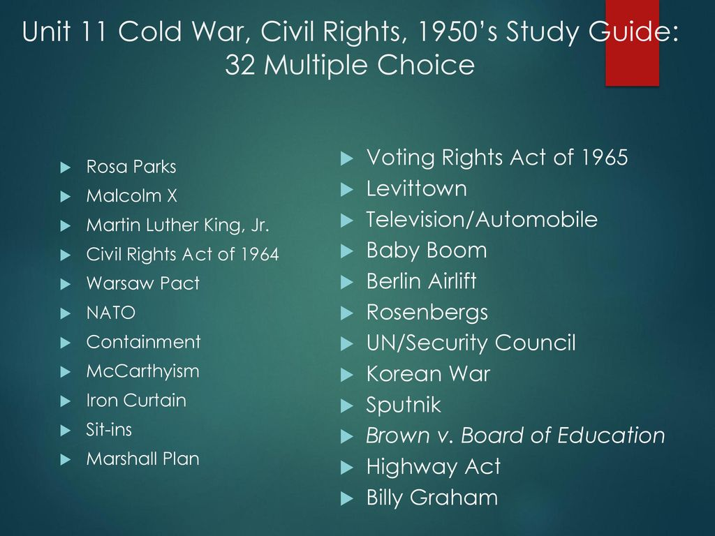 unit 11 cold war cold war period after ww ii ppt download rh slideplayer com cold war and 1950's study guide 1950s us history study guide