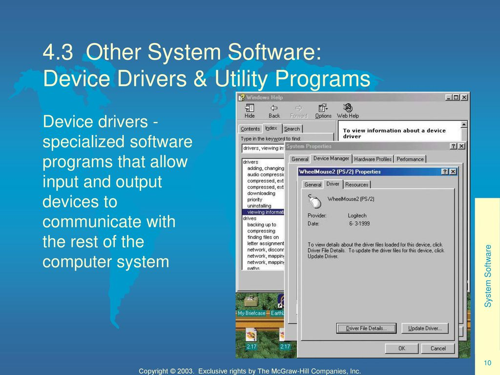 utility programs and drivers are part of