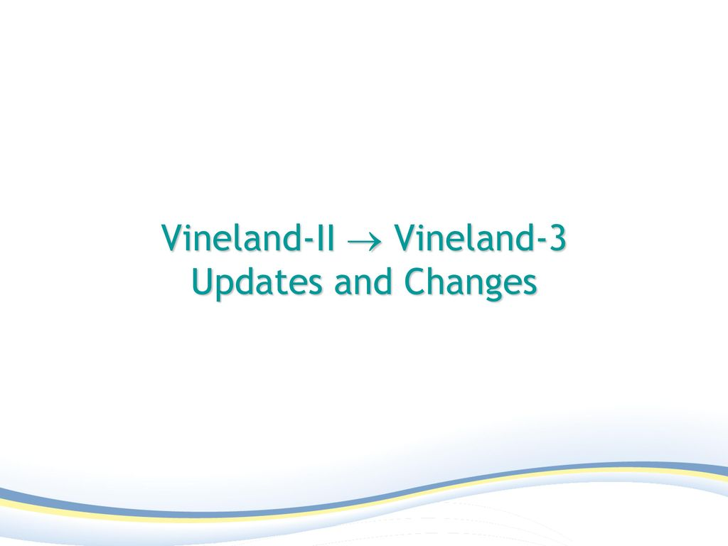 Basal And Ceiling Rules For Vineland 3 Taraba Home Review