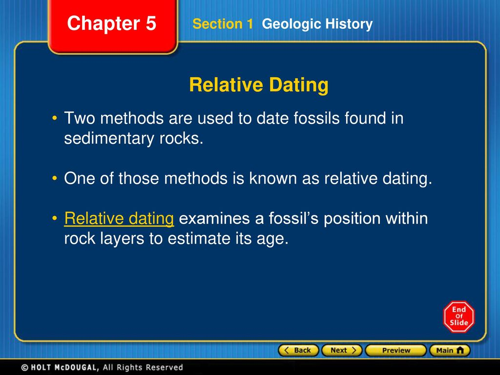 what are the two ways of dating fossils