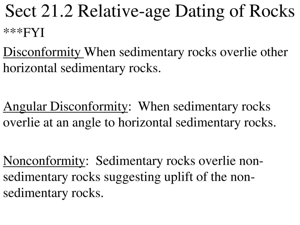 chapter 21 section 21.2 relative age dating of rocks gay dating long distance relationship