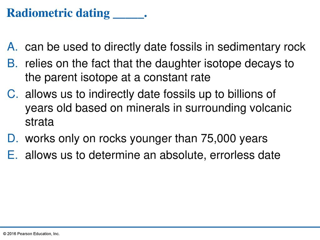 How do geologists use radiometric hookup to date sedimentary rock layers indirectly