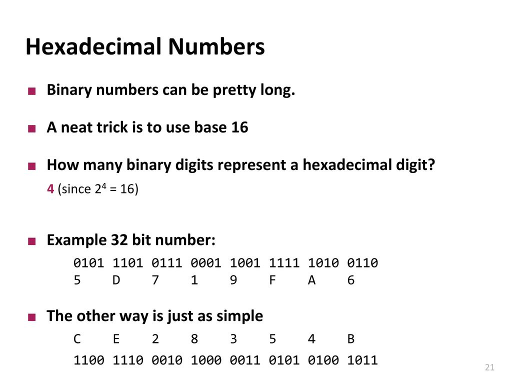 Design of Digital Circuits Reading: Binary Numbers - ppt