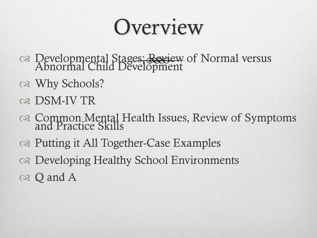 Dsm iv tr case study examples