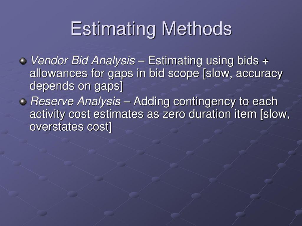 vendor analysis methods