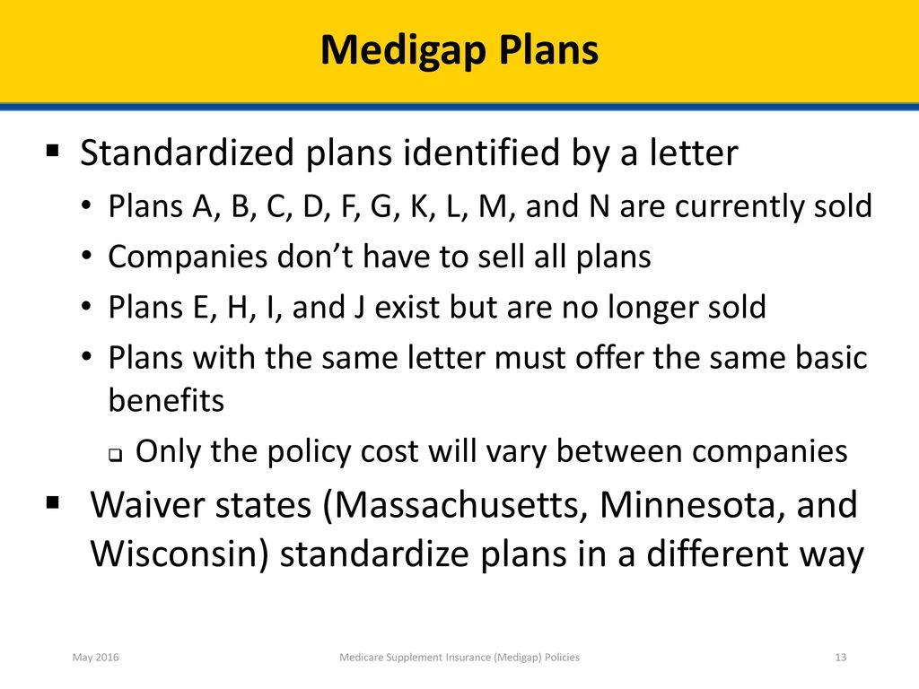 13 Medicare Supplement ...