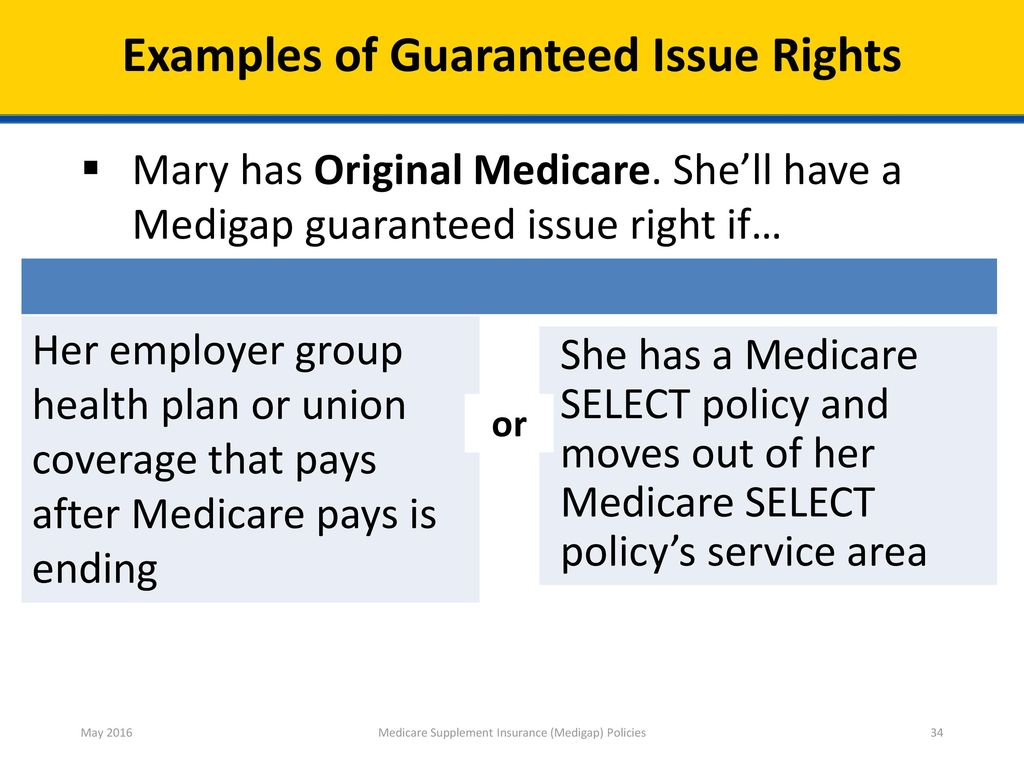 ... Supplement Insurance (Medigap) Policies. Check Your Knowledge—Question 5